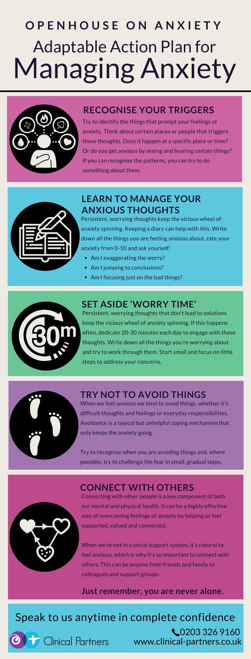 Top Tips to manage your anxiety