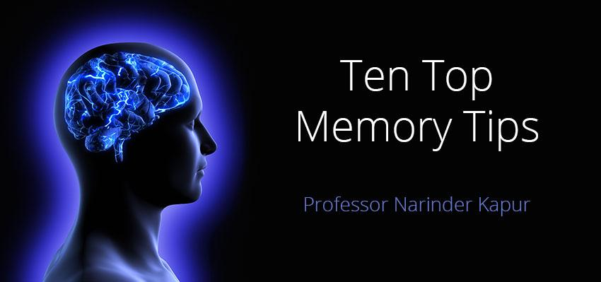 Ten Top Memory Tips