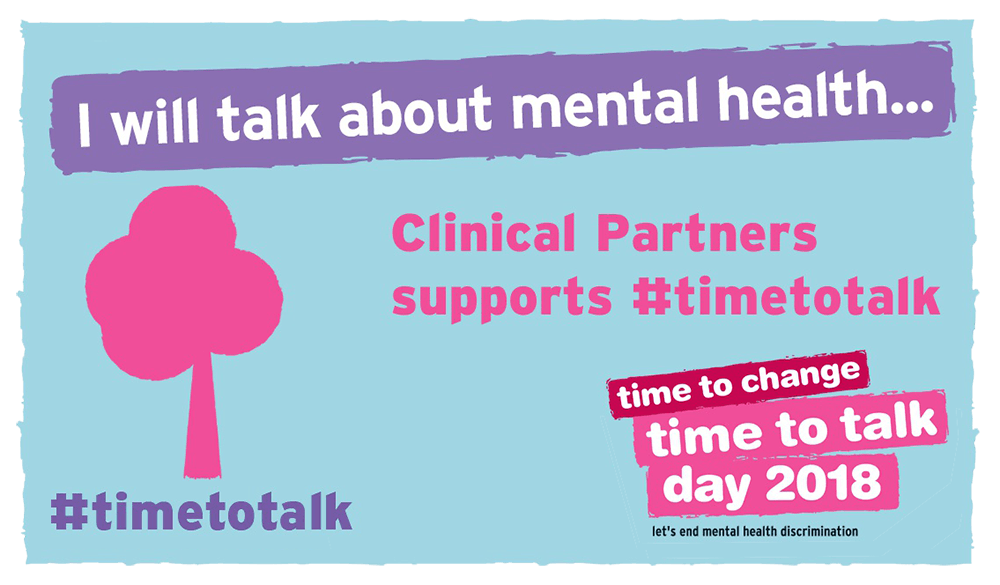 Clinical Partners supports #timetotalk