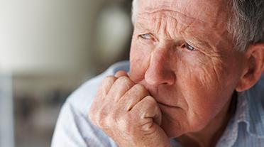 Anxious Older Man