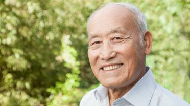 Gentleman with Alzheimer's Smiling