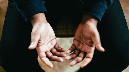 A mans hands